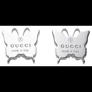 Gucci Silver butterfly earrings 🦋
